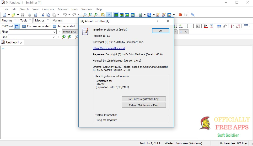 EmEditor Professional Crack 21.1.3  Keygen 2021 Latest Full Download