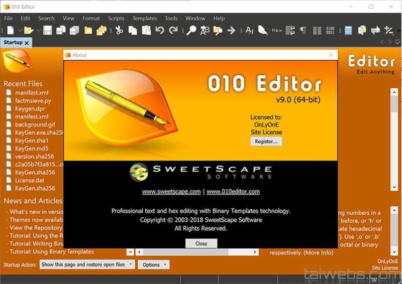 SweetScape 010 Editor Crack 12.0 + Full License Keygen 2021
